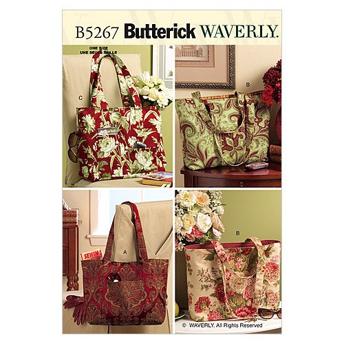 Butterick Patterns B5267 Totes, One Size Only (Purse Sewing Patterns compare prices)