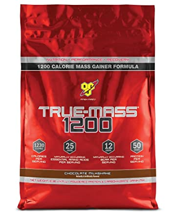 BSN - TRUE-MASS 1200 - Calorie Mass Gainer - Chocolate Milkshake - 4710g Beutel
