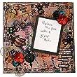 Steampunk Art, Mixed Media Frame, Wall Art, Original artwork, Steampunk Scrapbook Page, Girl steampunk,
