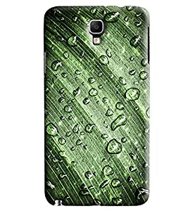 Blue Throat Waterdrop On Leaf Printed Designer Back Cover/ Case For Samsung Galaxy Note 3 Neo
