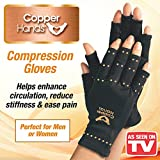 Copper Hands Compression Gloves for Arthritis Size Small/Medium As Seen on TV (1 Pair)