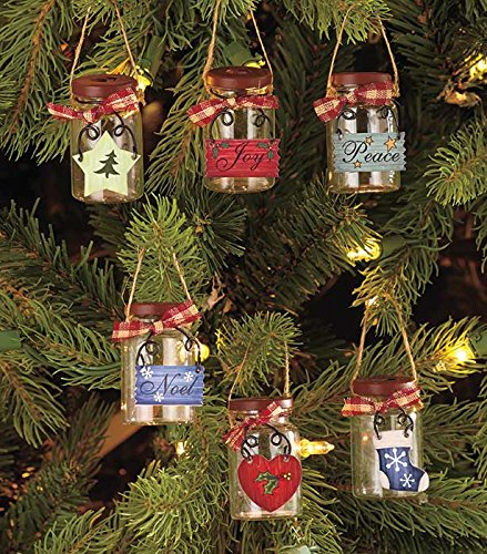 Mini Mason Jar Ornament Set