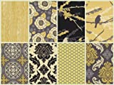 Aviary 2 - Vintage Yellow - Fat Quarter Bundle (8) By Joel Dewberry