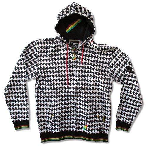 Adult No Doubt Kingston Houndstooth Zip Hoodie Sweatshirt (X-Large)