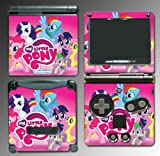 My Little Pony Friendship is Magic Equestria Video Game Vinyl Decal Cover Skin Protector for Nintendo GBA SP Gameboy Advance Game Boy