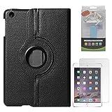 DMG Full 360 Rotating Cover Case For Apple Ipad Mini 3 (Black) + 2600 MAh PowerBank + Matte Screen