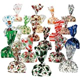 Christmas Cellophane Bags 9 dz assortmet - 108 pc