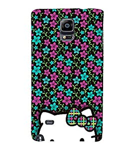 Floral Doll Design 3D Hard Polycarbonate Designer Back Case Cover for Samsung Galaxy Note 4 N910 :: Samsung Galaxy Note 4 Duos N9100