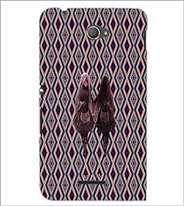 PrintDhaba Mirror Girl D-5734 Back Case Cover for SONY XPERIA E4 (Multi-Coloured)