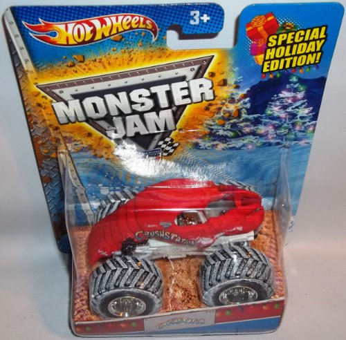 Hot Wheels Monster Jam Crushstation 2013 Holiday Edition with Snow on the Tires