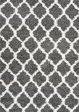 nuLOOM Modern Trellis Shag Area Rug, 8-Feet x 10-Feet, Grey