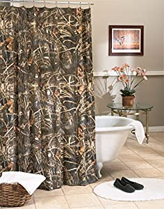 Kimlor Camo Shower Curtain (Mossy Oak Break-Up)