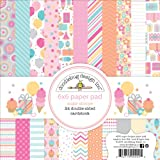 Doodlebug Design 6 x 6-inch Sugar Shoppe Double Sided Paper, Pack of 24