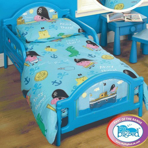 Peppa Pig George Junior Cot Bed Duvet Quilt Bundle Set