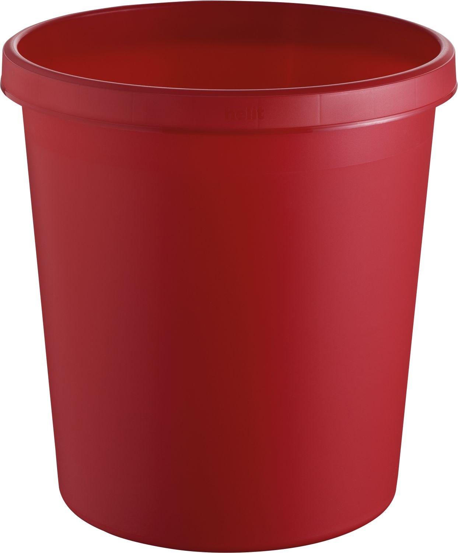 helit Papierkorb/H6105825 Ø 310mm, H 320mm rot Inh.18 l günstig bestellen