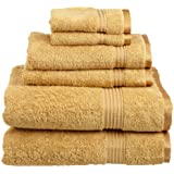Superior Egyptian Cotton 6-Piece Towel Set, Gold