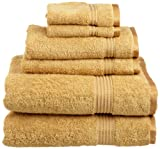 Superior Egyptian Cotton 6-Piece Towel Set, Gold