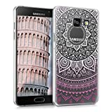kwmobile Crystal Case for Samsung Galaxy A5 (2016) with Design Indian sun - transparent Protection Case Cover clear in violet white transparent