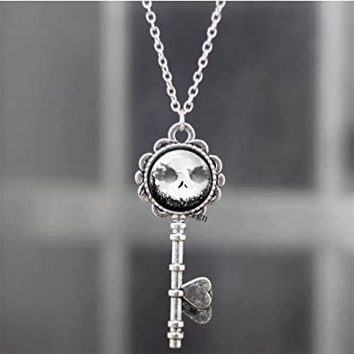 Superb Jewelry® the Night Before Christmas // Jack Skellington Halloween Key Necklace Christmas Halloween Birthday Gift Cosplay Charming Handcrafted Unisex A59