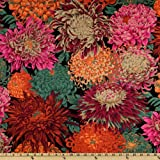 Kaffe Fassett Collective 2010 Drama Japanese Chyrsanthemum Red Fabric ~ Westminster/Rowan Fabrics