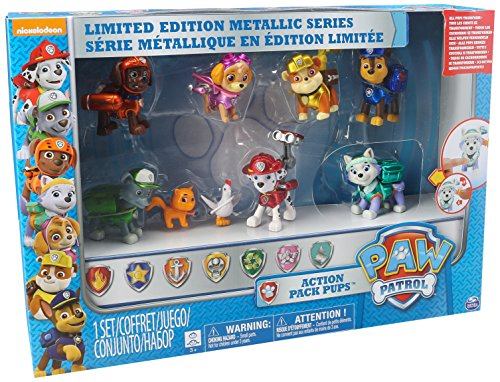 Paw Patrol Limited Edition Metallic Series Action Pup Set by Spin Master