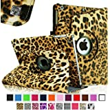 Fintie Apple iPad Air Case - 360 Degree Rotating Stand Case Cover with Auto Sleep / Wake Feature for iPad Air / iPad 5 (5th Generation) - Leopard Brown