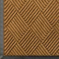 "Andersen 208 WaterHog Classic Diamond Polypropylene Fiber Entrance Indoor/Outdoor Floor Mat, SBR Rubber Backing, 4' Length x 3' Width, 3/8"" Thick, Gold"