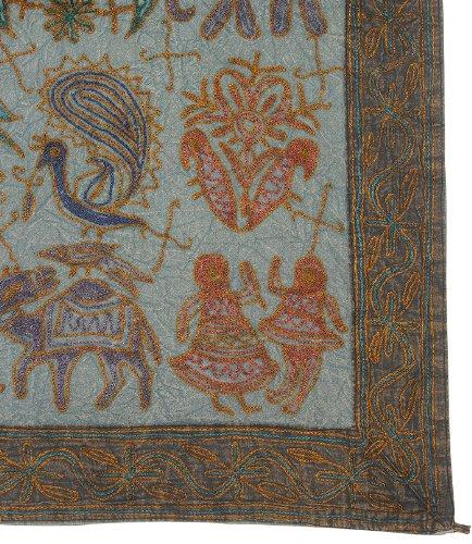 Imagen 3 de Tapiz bordado hecho a mano de la pared colgante adorna con tamaño Elephant tradicional 33 x 60 pulgadas