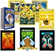 POKEMON PIKACHU Lot - 50 Cards Features 1 Full Art Pikachu and 1 Raichu! Foils Rares Lightning Energy! Comes in Tin or Storage Box! Includes 3 Custom Golden Groundhog Tokens!