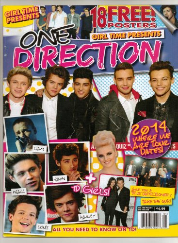 One Direction Girl Time Presents Magazine New 10-2013 18 Free Posters! 2014 Tour Dates