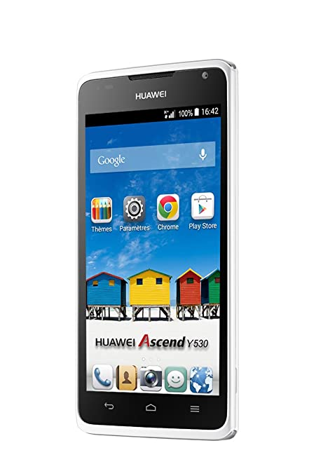 Huawei Ascend Y530 Smartphone débloqué 4,5 pouces Android 4.3 Jelly Bean 4 Go Blanc
