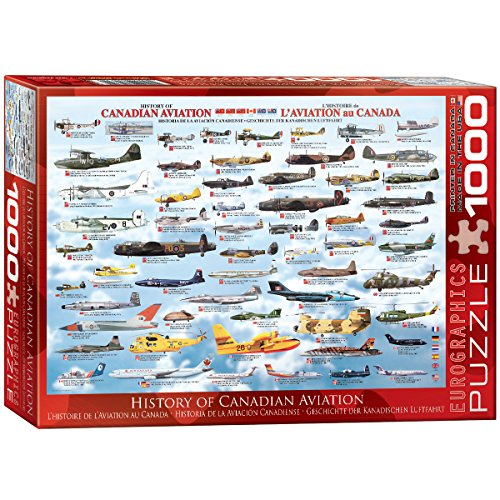 Eurographics History Canadian Aviation 1000-Piece Puzzle