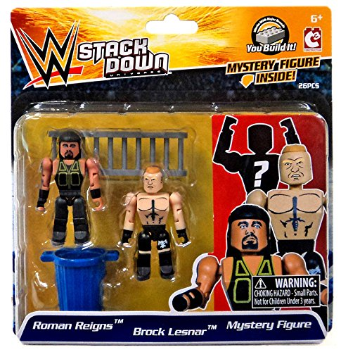 Roman Reigns and Brock Lesnar Mystery mini Figure WWE stackdown C3 26 piece