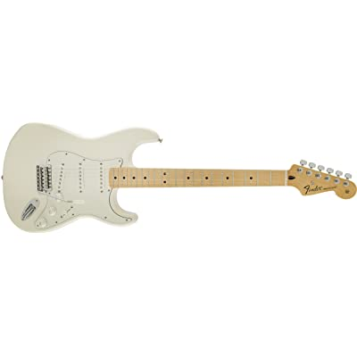 Fender Standard Stratocaster, Maple Fretboard - Arctic White - good electric guitar for beginners
