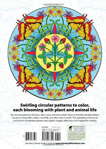 Nature Mandalas Coloring Book (Dover Coloring Books)