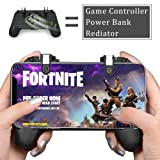 Mangotek Mobile Phone Game Controller, L1R1 Sensitive Shoot and Aim Trigger Buttons, Fortnite/PUBG/Knives Out/Rules of Survival Gaming Camepad with Cooling Fan Radiator and Power Bank for Android iOS