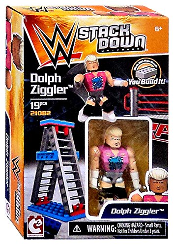 WWE Wrestling C3 Construction StackDown Dolph Ziggler Playset #21082
