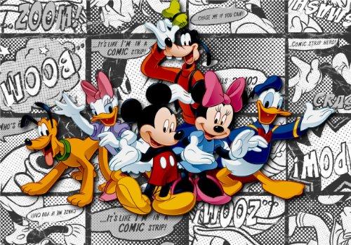 Carta da parati fotografica ftdnxxl5010, motivo: Mickey Mouse Disney