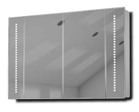 Star LED Illuminated Bathroom Mirror Cabinet With Sensor & Shaver k71