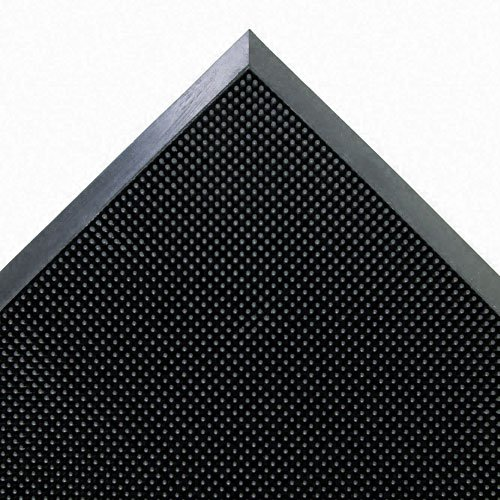 Crown Products - Crown - Mat-A-Dor Entrance/Scraper Mat, Rubber, 24 x 32, Black - Sold As 1 Each - Keeps home and office free from dirt and debris. - 2,400 shoe-cleaning rubber fingertips per square foot. - Flexible surface provides comfort and qualities of anti-fatigue mat. - Beveled edges keep mat flat and reduce tripping hazard. - Easy-to-clean design saves you time and energy.