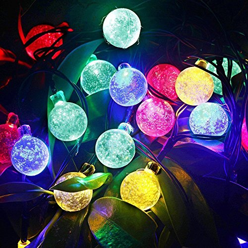 vansky gartenbeleuchtung solar weihnachtsdeko aussen lichterkette solar au en 6m rgb 30er led. Black Bedroom Furniture Sets. Home Design Ideas