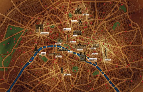 Vladstudio Paris Map Wooden Jigsaw Puzzle