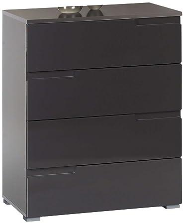 AVANTI TRENDSTORE - Spice - Comó con 4 cassetti, disponibile in 2 colori diversi, ca. 65x80x40 cm (Nero)