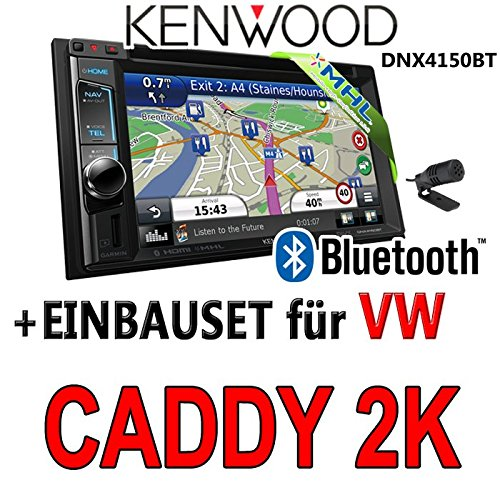 Volkswagen caddy 2-k kenwood dNX4150BT 2-dIN navigationsradio uSB mHL kit de montage d'autoradio