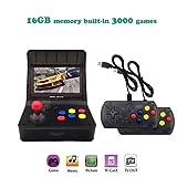SCX Slot Cars Retro Arcade Game Console, 4.3 inch 3000 Classic Game Console 2PCS Joystick, TV Output Portable Video - Transparent Black …