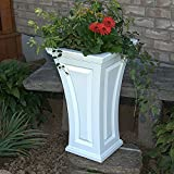 "28.5"" Concord Tall White Self-Watering Planter"