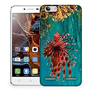 Snoogg Red Fish Designer Protective Phone Back Case Cover For Lenovo K5 Vibe