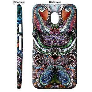 TGK Abstract Art Queen - 1 Back Cover Case for Motorola Moto G3 3rd Gen - Multicolor
