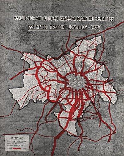 Manchester Plan 1945. Forecast Traffic Densities (1970 Peak Hour), 1945 Map