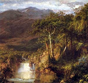 Heart of the Andes Detail by Frederick Edwin Church canvas art print, 26.53 X 25.13